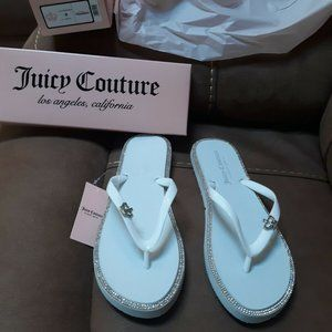 Juicy Couture Size 9 Bling Flip Flops-NEW
